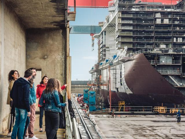 Visiter les chantiers navals de Saint-Nazaire