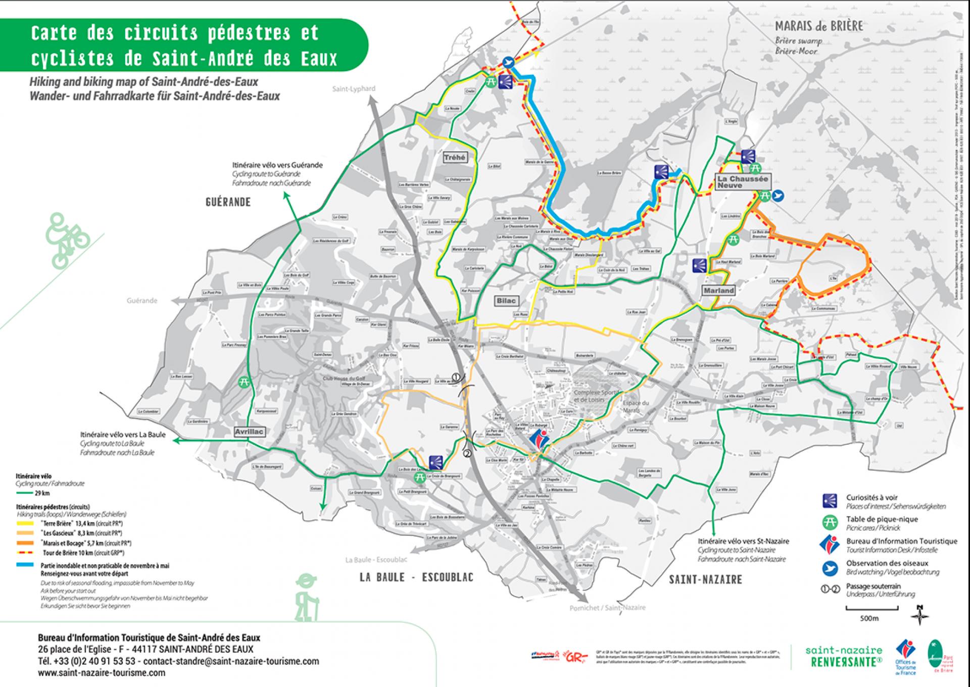 Couverture Circuits Pedestres Et Cyclables De Saint Andre Des Eaux