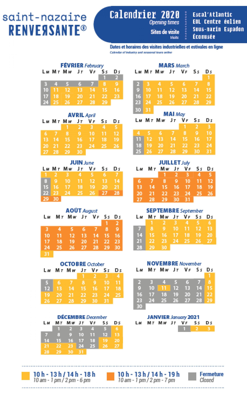 Calendrier des visites 2020 MAJ 23 juin 2020