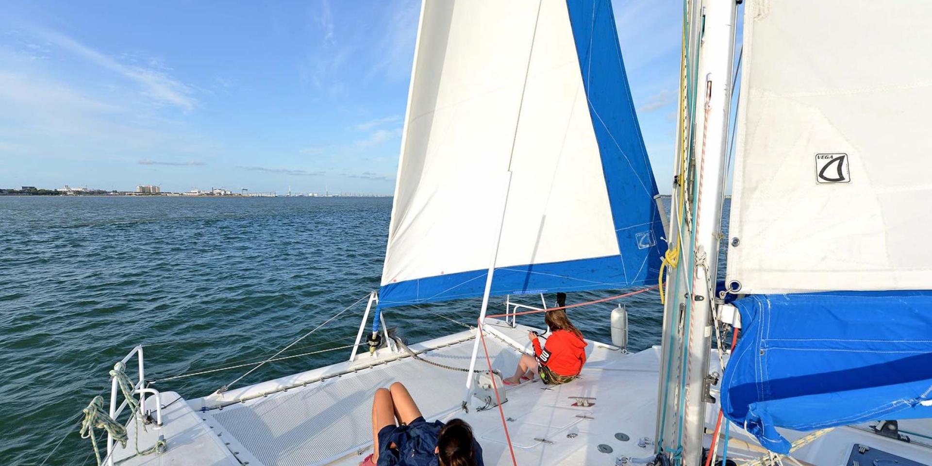 Sortie en mer à bord d'un catamarn à Saint-Nazaire