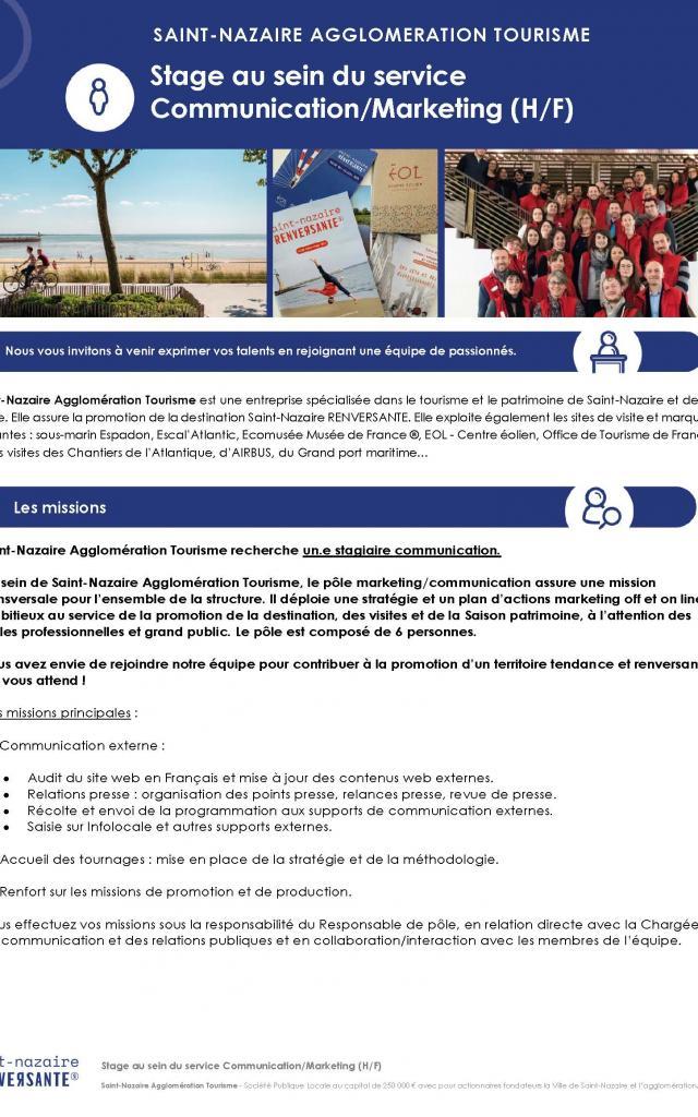 Annoncerecrutement Stage Communication Septembre à Décembre 2021 Page 1
